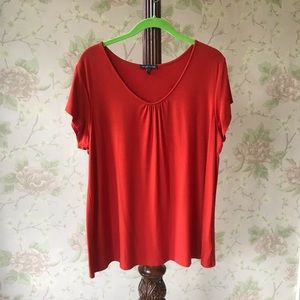 Red/orange Eileen Fisher Short Sleeved Shirt